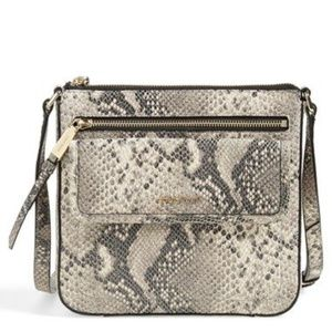 Cole Haan 'Antonia' Snake Print Crossbody Bag.